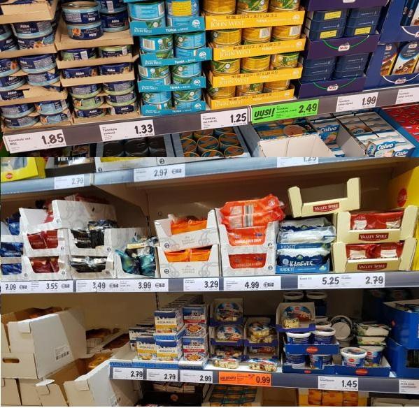 Цены в магазине Lidl