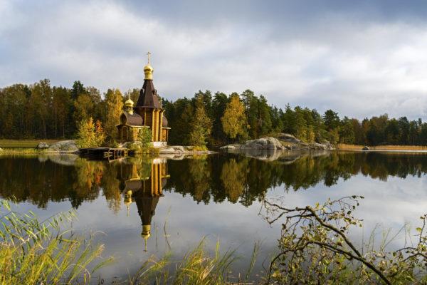 Храм Андрея Первозванного на Вуоксе, недалеко от Санкт-Петербурга
