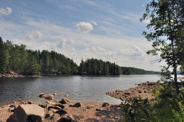 Река Вуокса в Финляндии