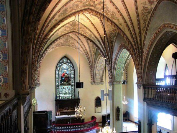 Интерьер церкви является результатом реконструкции,