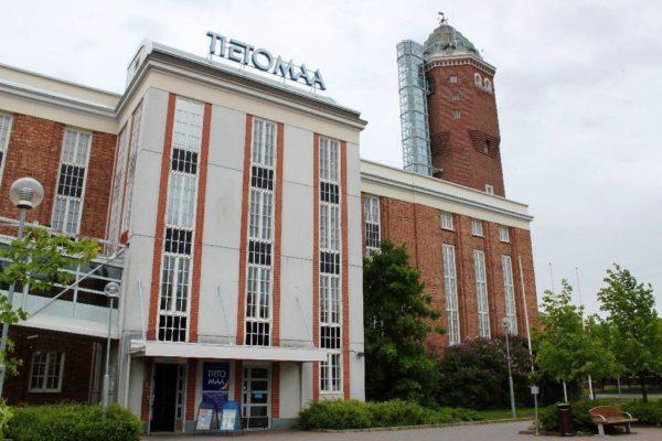 Здание научного центра Тиетомаа по стилю напоминает пусковую установку ракеты