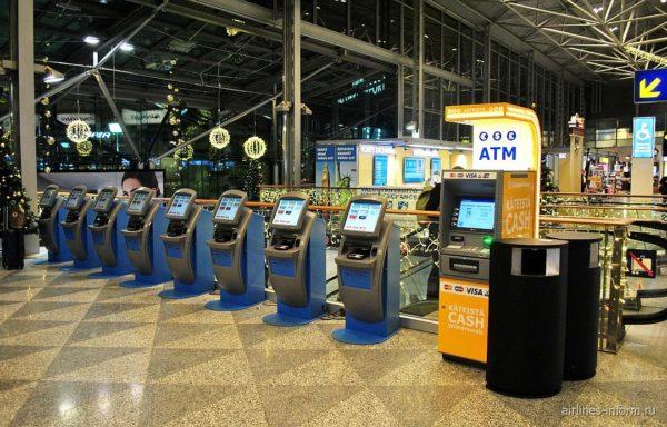 Автоматы для самостоятельной регисттрации в аэропорту Вантаа