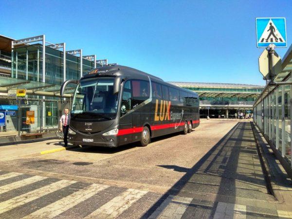 Автобус из СПБ до Хельсинки