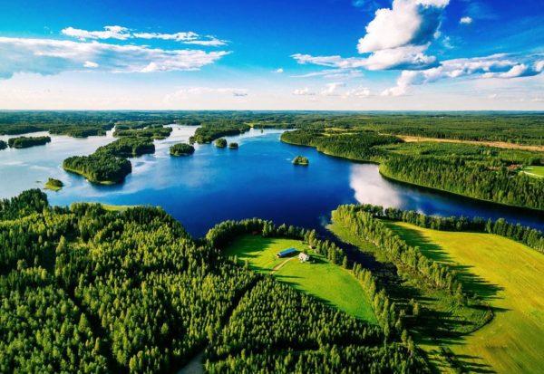 Солнечная погода в Финляндии