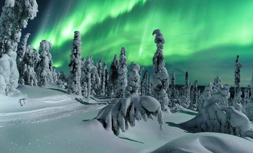Плярная ночь в Лапландии