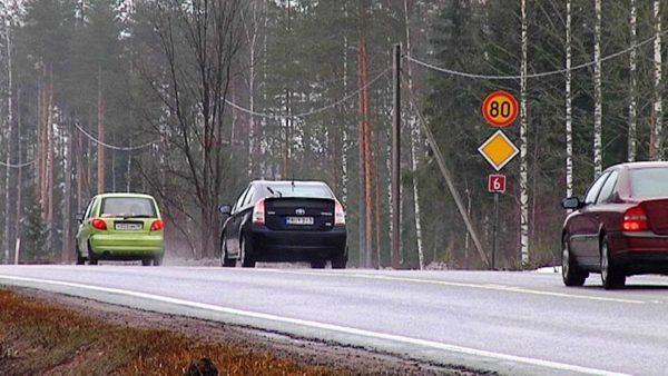 Ограничение скорости в Финляндии